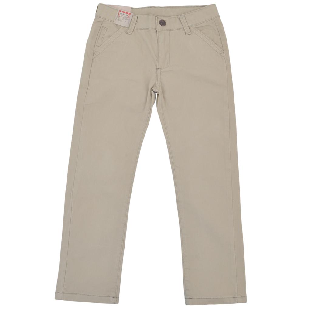 Елегантен памучен панталон с италиански джобове бежов