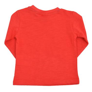 Блуза с плажни щампи червена