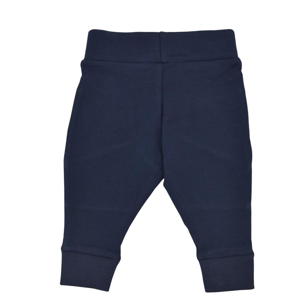 Долнище с платки и цветни джобове тъмно синьо