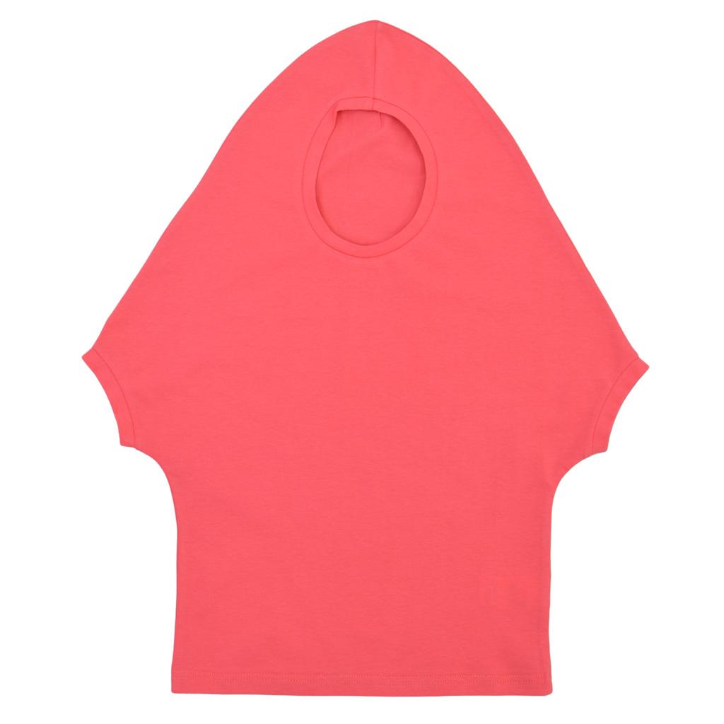 Оригинална детска блуза с имитация на качулка розова