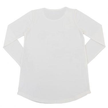 Елегантна блуза трапец в екрю с декорирано сърце