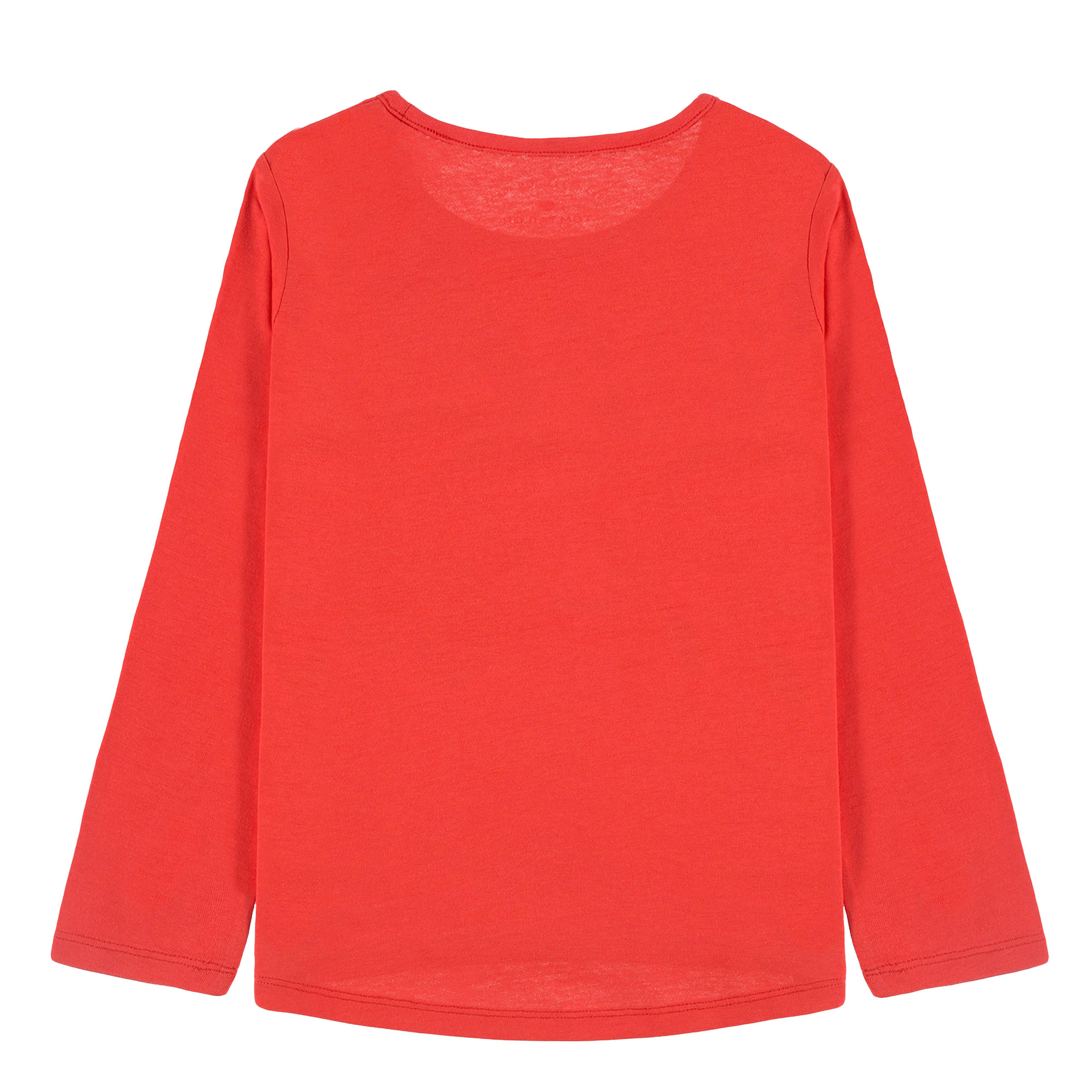 Елегантна блуза с щампа скутер в червено от Tom Tailor