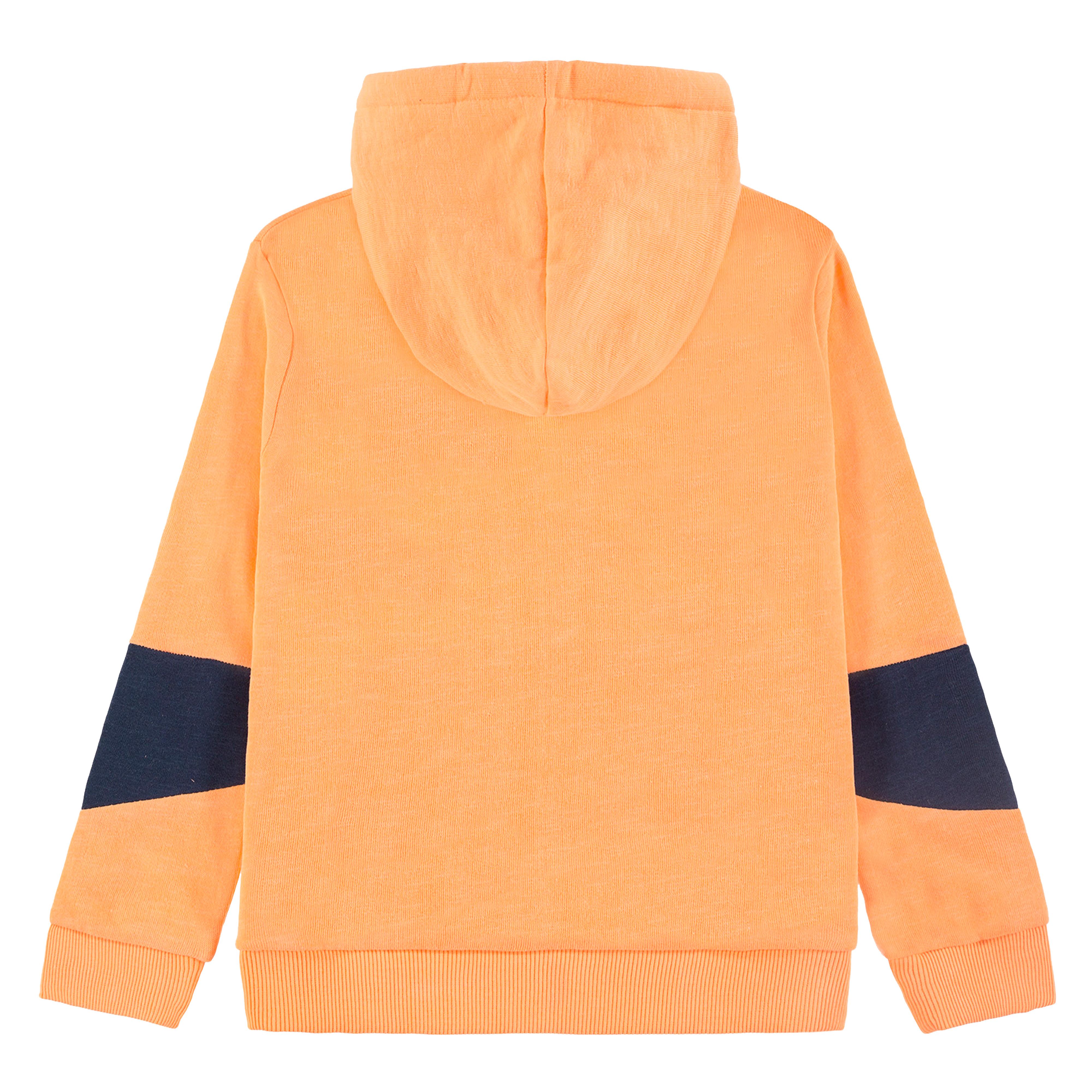 Топла спортна блуза с качулка от Tom Tailor в ярко оранжево