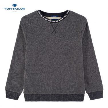 Спортна блуза с щамповани надписи от Tom Tailor синя