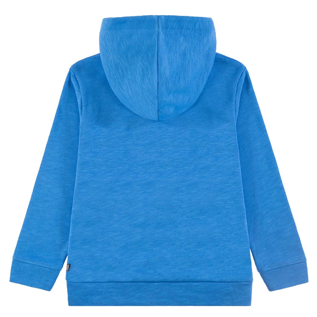Спортна блуза с качулка и щампа скейтборд в синьо от Tom Tailor