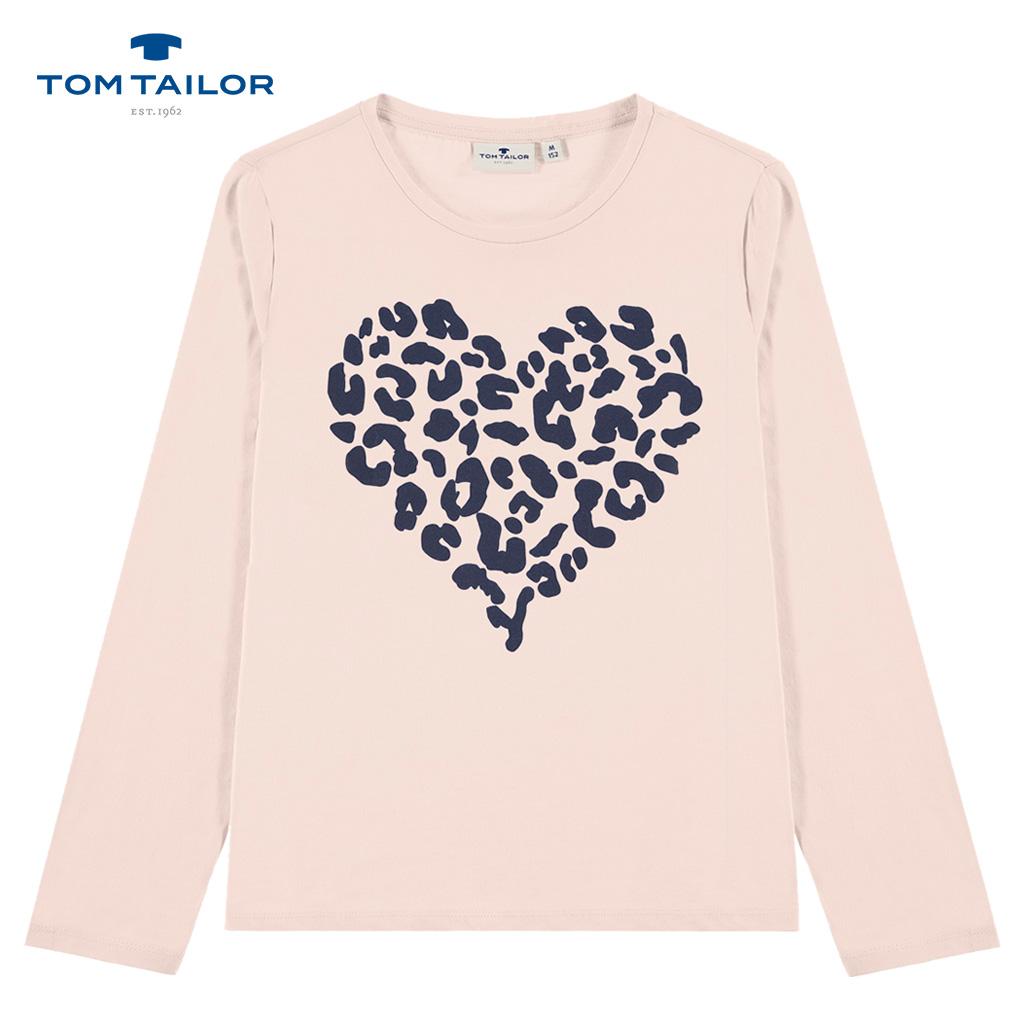 Блуза Tom Tailor в цвят праскова с леопардово сърце