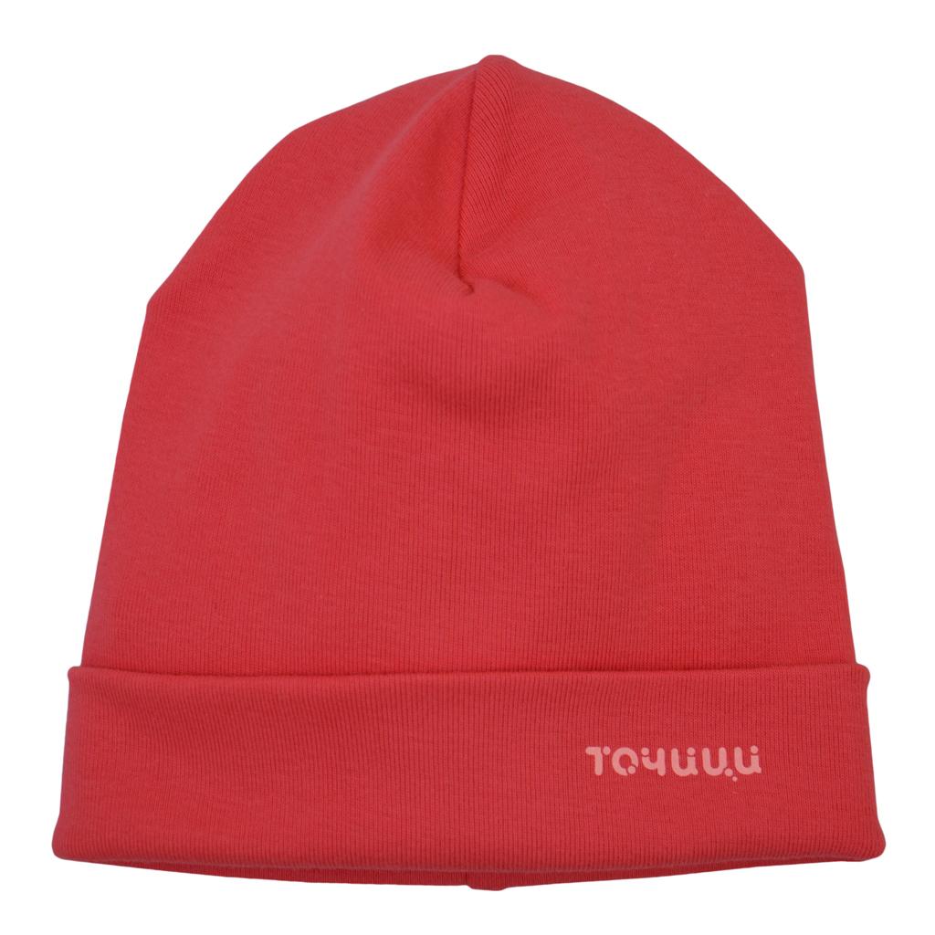 Трикотажна памучна шапка с лого ''Точици''  диня