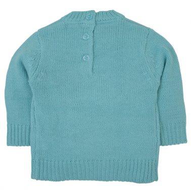 Мек акрилен пуловер в цвят електрик с лама