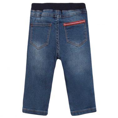 Модерни дънки с ластик и копче от Newness в тъмно синьо