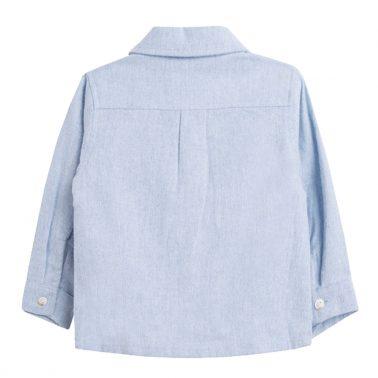 Изчистена бархетна риза в светло синьо от Newness