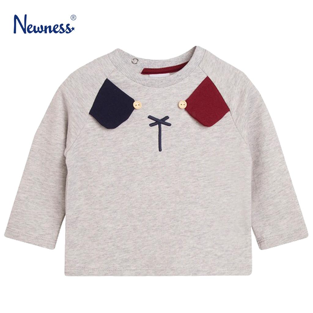 Блузка с кучешка муцунка в сив меланж от Newness