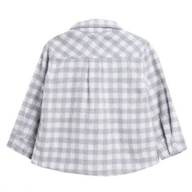 Бархетна риза в сив пепит с джобче от Newness