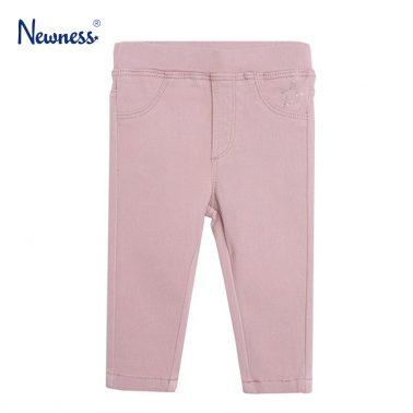 Еластичен панталон в тъмно розово с камъчета от Newness
