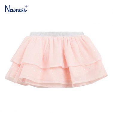 Пола с тюл и сребърни точки в розово от Newness