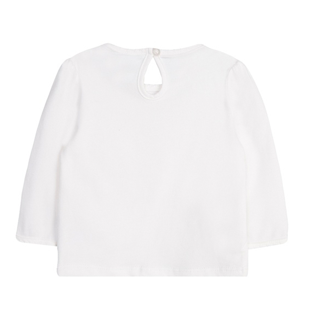 Блузка Newnes в бяло с коте в кариран джоб