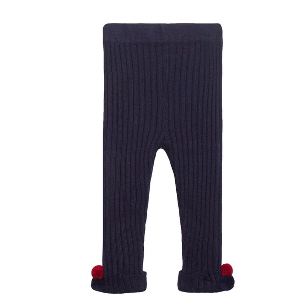 Клин Newness от рипсено плетиво в тъмно синьо с помпони