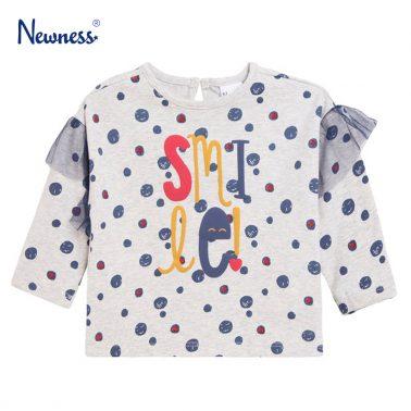 """Блуза """"Smile"""" на сини точки от Newness"""