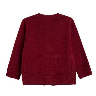 Стилна жилетка с плетеници и панделки от Newness червена