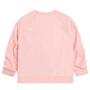 Спортна блузка с набран ръкав и лебеди от Newness розова