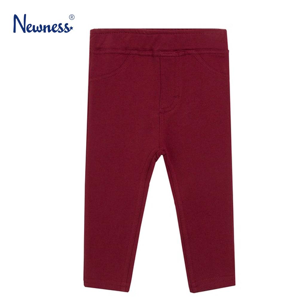 Трикотажен панталон с имитация на закопчаване от Newness бордо