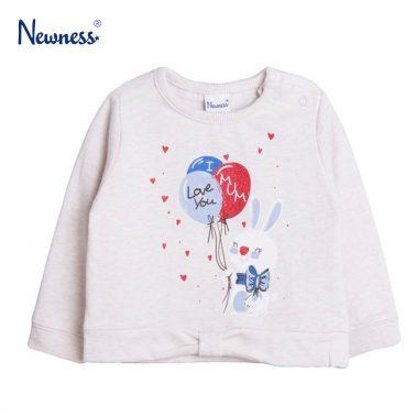 Блузка с щампа зайче с балони от Newness бежова