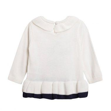Плетена туника със звездичка и волани от Newness в бяло