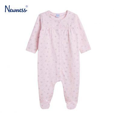 Топъл гащеризон на панделки в розово от Newness