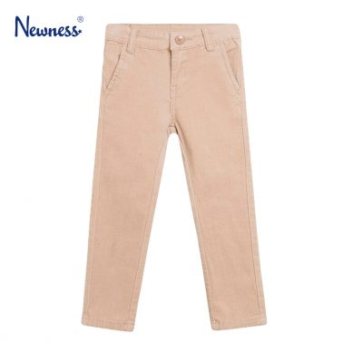 Панталон Newness от ситно кадифе в бежово