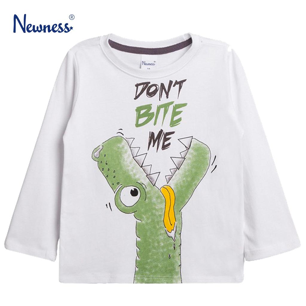 Блуза с гладен Дино от Newness в бяло