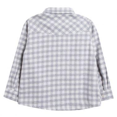 Карирана риза в сиво с джоб с капаче от Newness