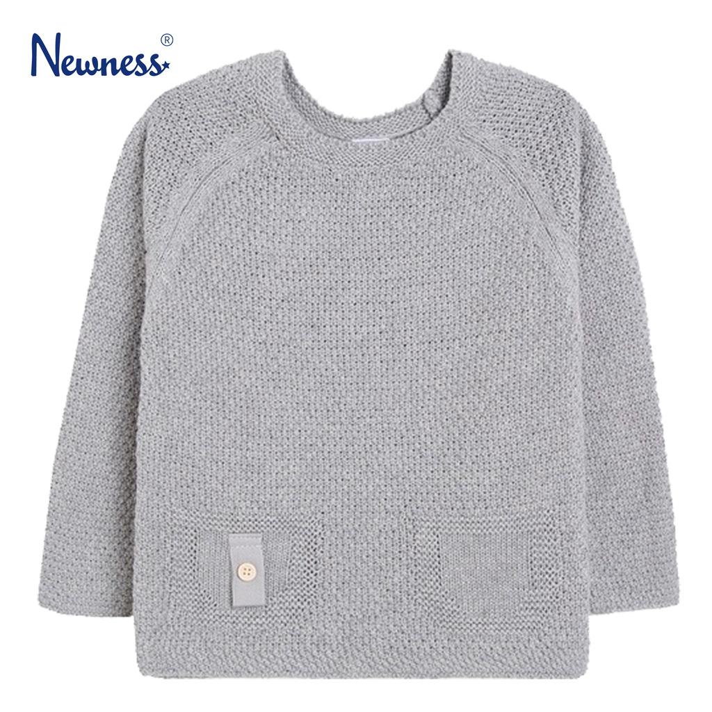 Мек пуловер с имитация на джобове от Newness в сиво