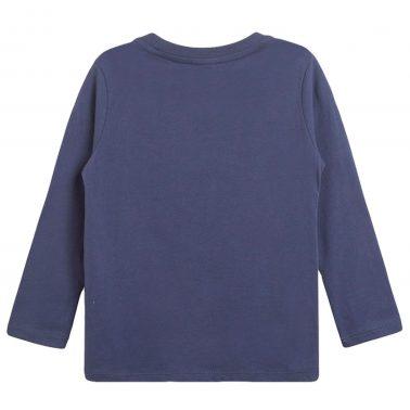 Блуза с фокусник от Newness в тъмно синьо