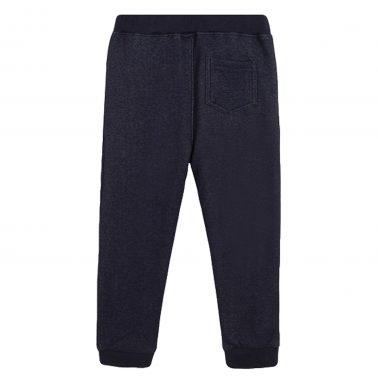 Топъл трикотажен панталон с джобове от Newness тъмно син