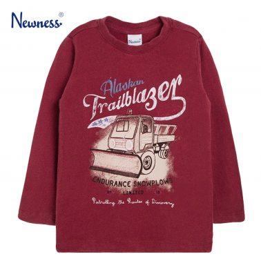 Блуза в бордо с камион-снегорин от Newness