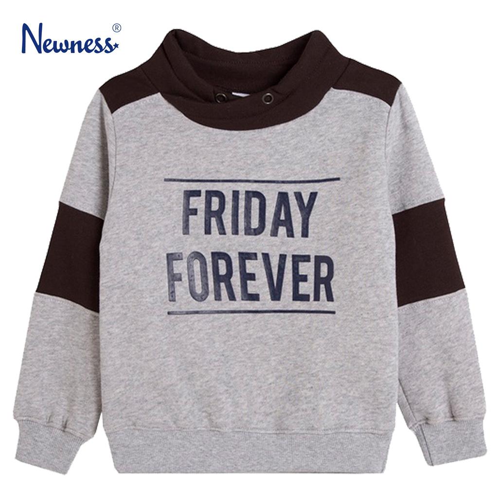 """Спортна блуза """"Friday forever"""" от Newness в сиво"""