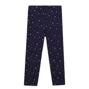 Трикотажен клин  Newness със звездички от брокат в синьо