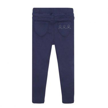 Елегантен панталон в тъмно синьо с камъчета от Newness