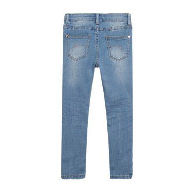 Модерни дънки с перли в светло синьо от Newness