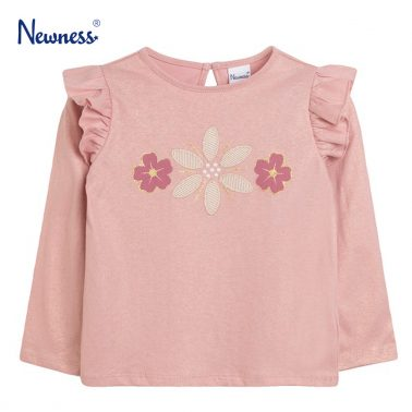 Шикозна блуза с цветя и перли от Newness в розово