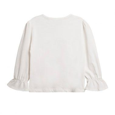 Блуза Newness с пеперуда от двуцветни пайети в екрю