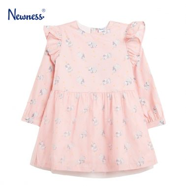 Рокля с ангели в розово от Newness