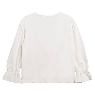 Блуза с балерина и ластик на ръкавите в екрю от Newness