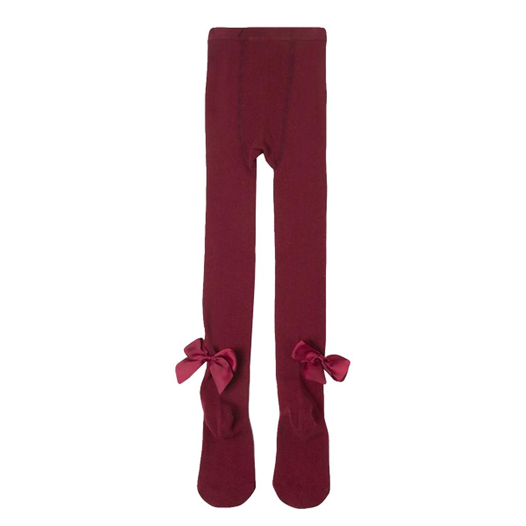 Чорапогащник с кокетни панделки от Newness в бордо