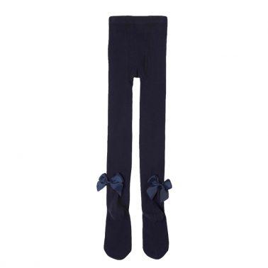 Чорапогащник с кокетни панделки от Newness в синьо