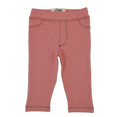 Трикотажен панталон с имитация на закопчаване в тъмно розово