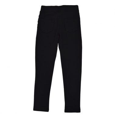 Клин тип панталон с имитация на закопчаване в черно