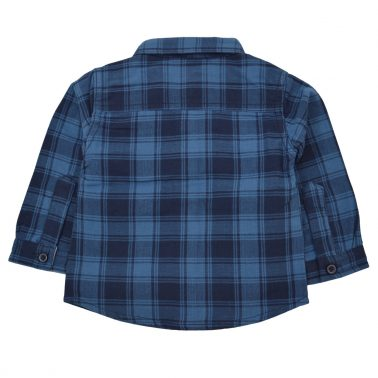 Елегантна риза с едро каре в син цвят