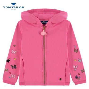 Суитшърт в розово с пъстри пеперуди от Tom Tailor