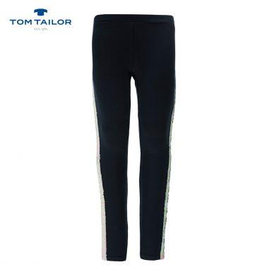 Клин с двуцветни пайети от Tom Tailor  в черно