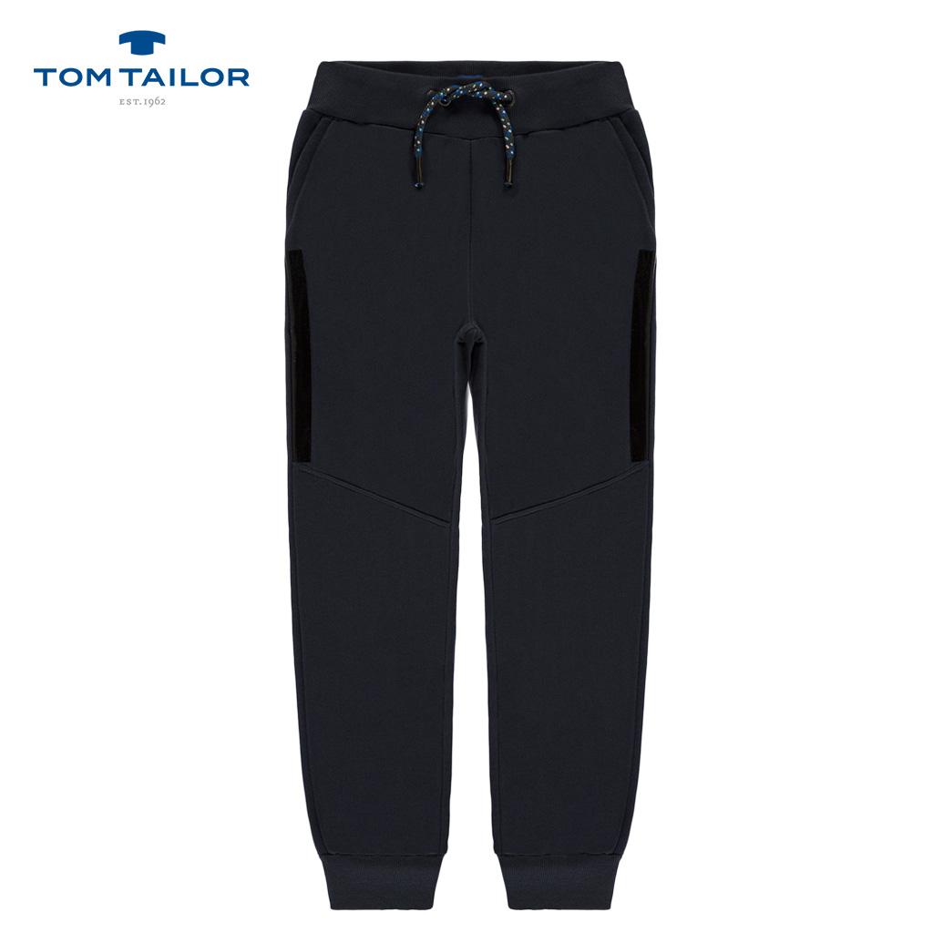 Долнище Tom Tailor с италиански джоб и връзка в сиво